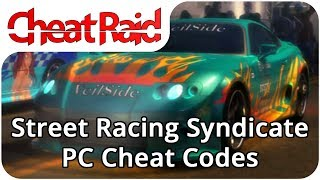 Street Racing Syndicate Cheat Codes | PC