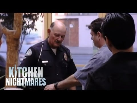 Handcuffing a Restaurant Manager - Kitchen Nightmares