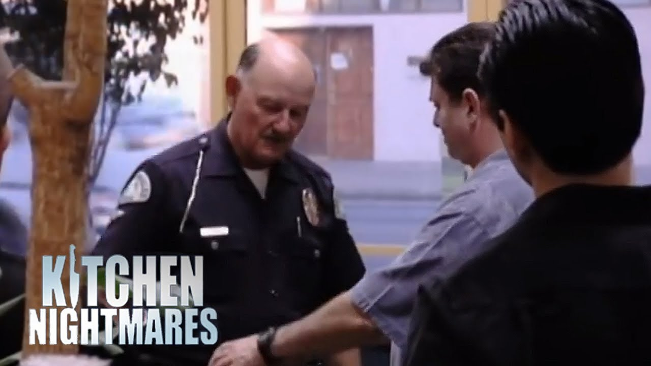 Handcuffing a Restaurant Manager Kitchen Nightmares