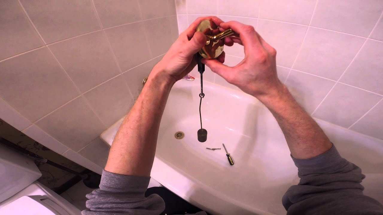 How To Adjust A Trip Lever Bathtub Drain YouTube