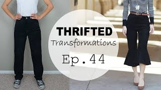 Thrifted Transformations  | Ep. 44 ft. GlassesUSA (DIY Flared Pants)