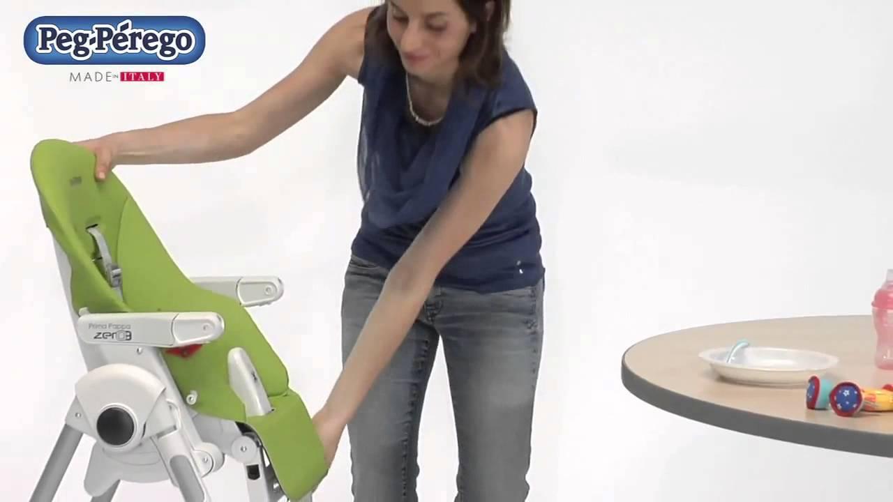 Peg perego prima pappa zero3 hochstuhl youtube - Chaise haute peg perego siesta ...