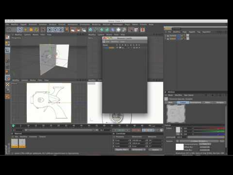 Inserire Immagini (blueprint) all'interno di Cinema 4D