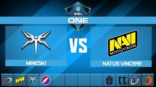 Mineski vs NaVi | ESL One Mumbai 2019