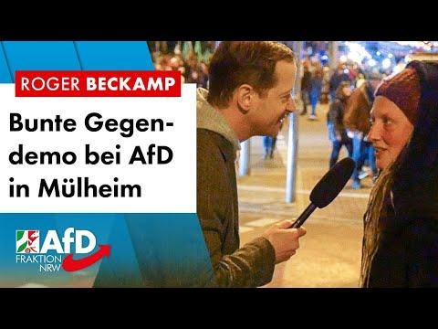 Bunte Gegendemo beim AfD-Bürgerdialog in Mülheim