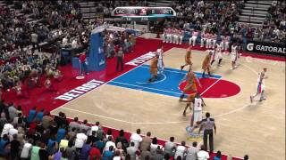 NBA 2K10 (Xbox 360) Gameplay: Los Angeles Clippers vs. Detroit Pistons