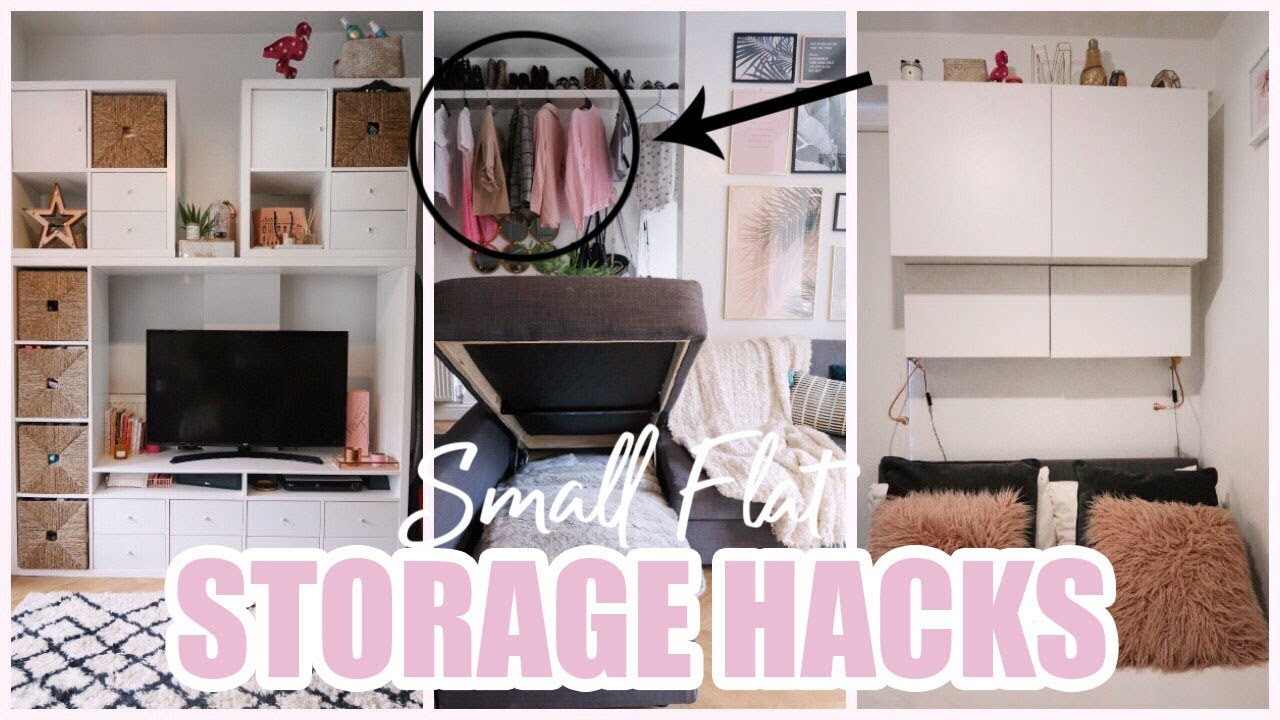 STORAGE HACKS FOR A SMALL APARTMENT - YouTube