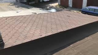 что стало с крышей из битумной черепицы через 2 года  Строим гараж