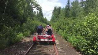 Rail biking on the Adirondack Scenic Railroad