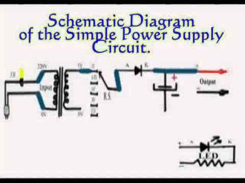 Simple Power Supply Circuit by MLJR-Schematic Diagram - YouTube