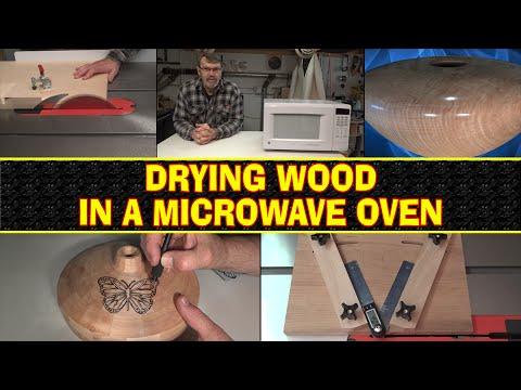 how to dry wood in a microwave oven