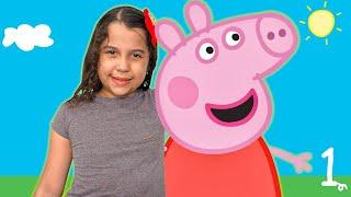 SARAH em uma HISTÓRIA ENGRAÇADA do mundo ANIMADO da PEPPA PIG - Parte 1