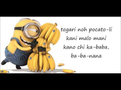 Despicable Me   Minions  Banana Song   Lyrics