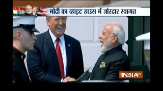 PM Modi meets President Trump at the White House, Melania Trump also present