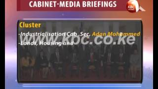 Cabinet secretaries give briefs on government performance