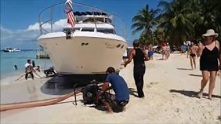 SALVAGE OF MOTOR YACHT HASTA LA VISTA  AFTER THE STORM