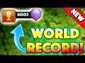 NEW WORLD RECORD! - Clash of Clans - It's Been Broken! 6,000 Trophies Reached