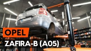 How to replace rear shock absorber on OPEL ZAFIRA-B 2 (A05) [TUTORIAL AUTODOC]