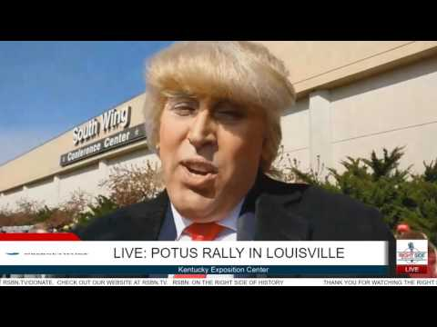 Best President Trump Impersonator of ALL-TIME talks with RSBN in Louisville 3/20/17