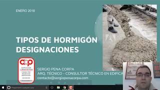 Tipos de hormigón - designaciones - tutorial