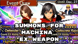 Summons for Machina EX Weapon - DFFOO - Dissidia Final Fantasy: Opera Omnia