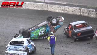 Drew Johnson Rollover at Raceway Park on May 4th