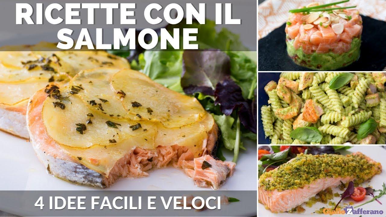 Ricetta Salmone Giallo Zafferano.Salmone 4 Ricette Veloci E Facili Youtube