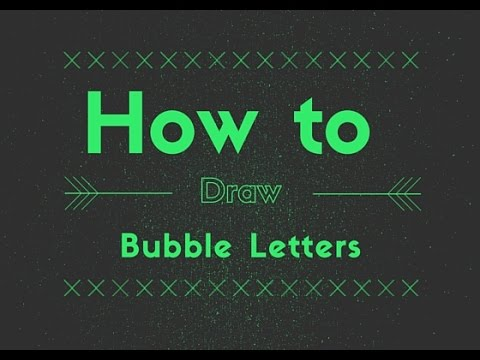 Elementary Art Lesson How To Draw Bubble Letters For Kids
