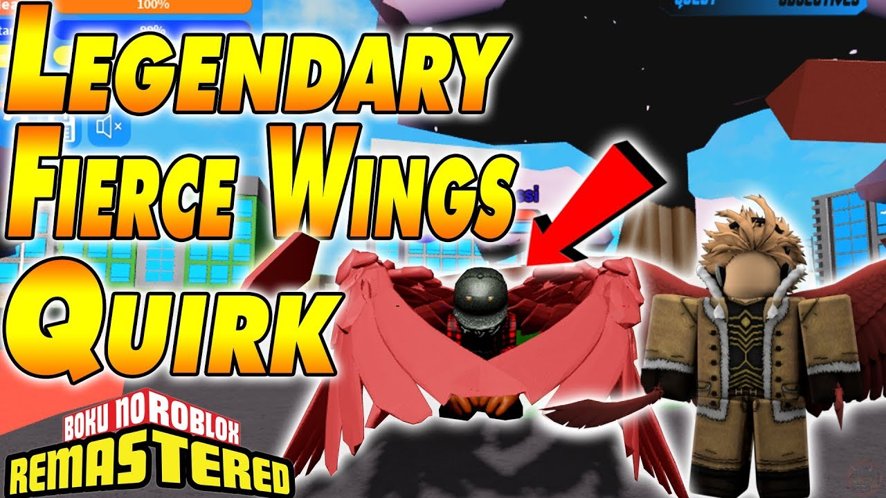 All For One Quirk Showcase Legendary Quirk Boku No Roblox Code New Legendary Fierce Wings Quirk Boku No Roblox Remastered Youtube