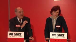 Gregor Gysi, Katja Kipping, DIE LINKE: Koalitionsvertrag des Stillstands