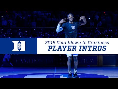 2018 Countdown To Craziness: Player Intros
