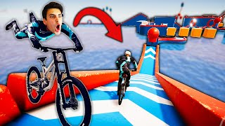 EXTREME BIKE OBSTACLE COURSE?! *BIKEOUT* (Descenders)