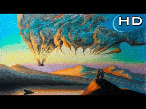 How to Paint a Landscape with Pastels for Beginners Step by Step – Drawing Tutorial