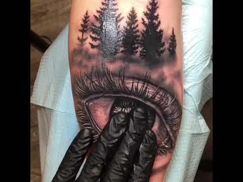 Realistic Eye Tattoo By Nick Dangelo