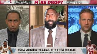 Kendrick Perkins Agrees with Isiah Thomas #Jordan vs #LeBron #GOAT Theory