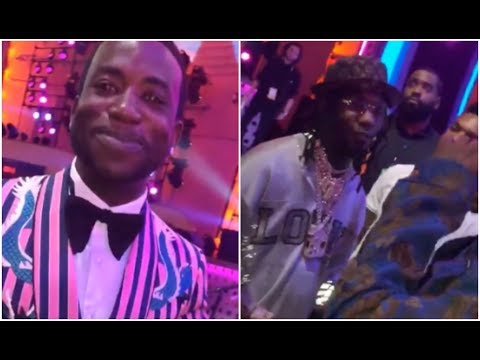 Migos Run Into Gucci Mane At MTV VMA Awards 2018