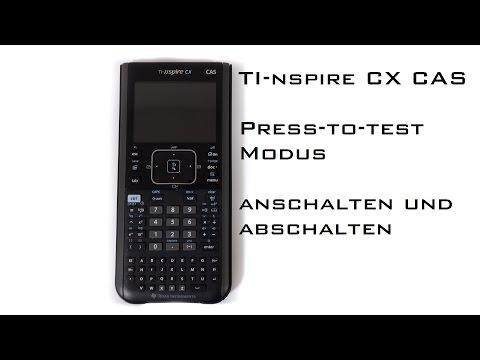 UltraUnboXing - Press-to-test Modus des TI-nspire CX CAS