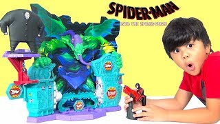 NEW SPIDER-MAN Into The Spider-Verse Super Collider Playset Toys Unboxing Fun With TBTFUNTV