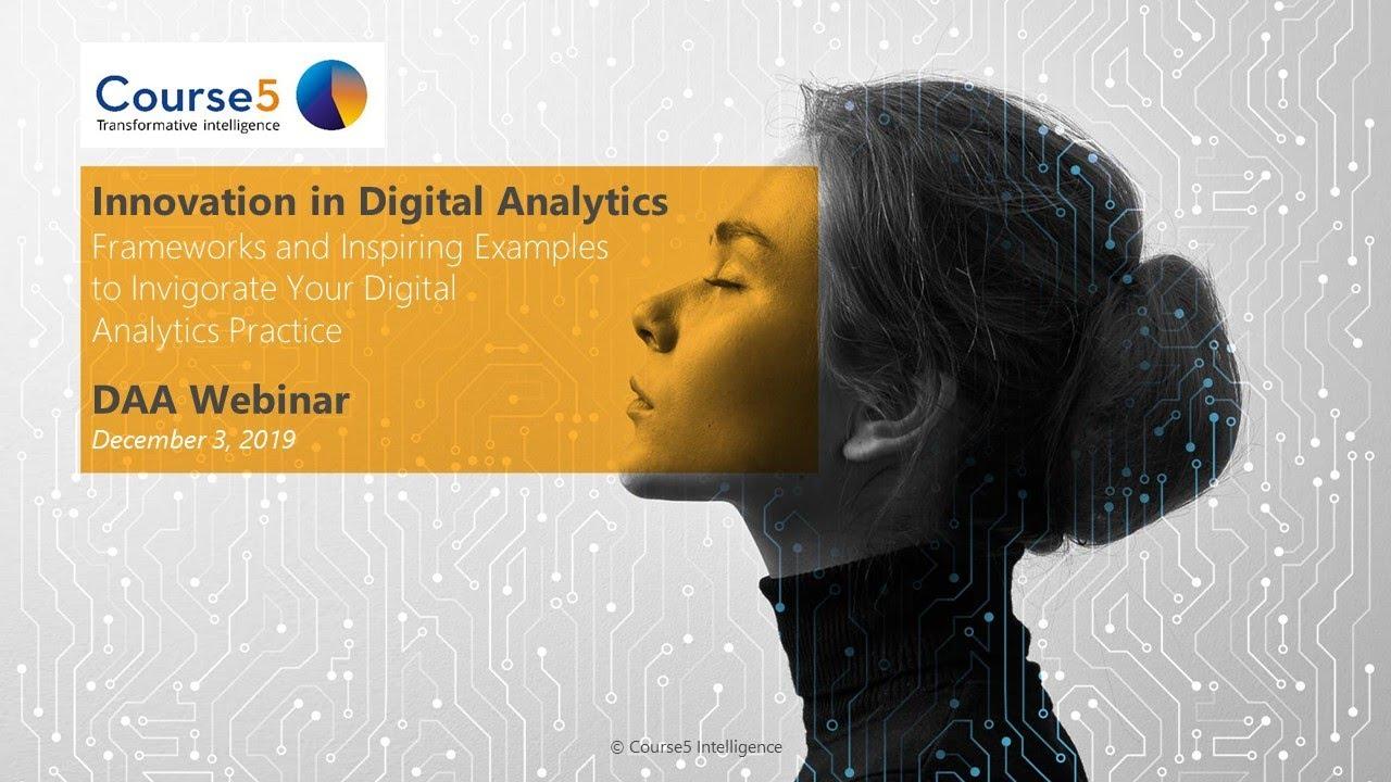 Innovation in Digital Analytics