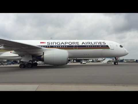 Airbus A350 Singapore Airlines Engine Start & Taxi