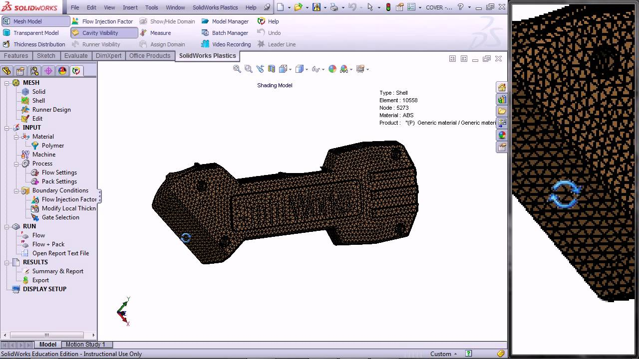 Solidworks Plastics can analyse you part warpage, cylce time