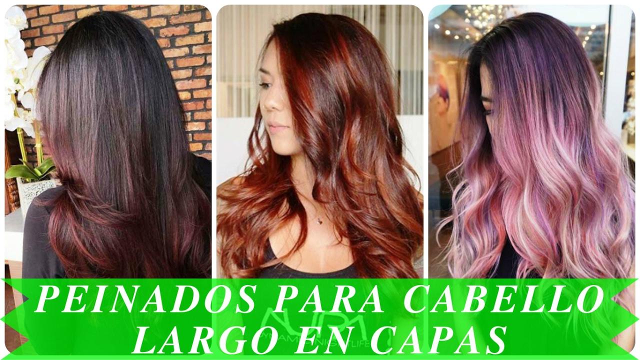 Peinados para cabello largo en capas