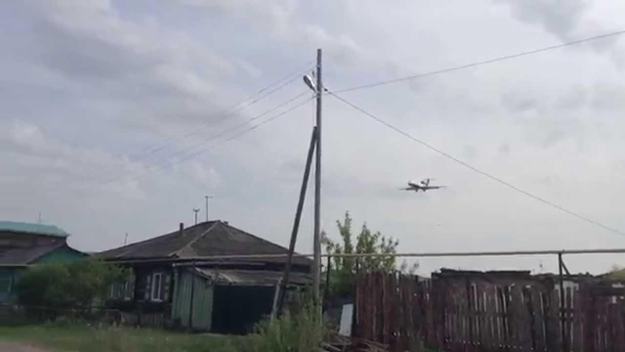 Ижавиа-3391 заход на ВПП02 Курган 16.05.2014 - YouTube