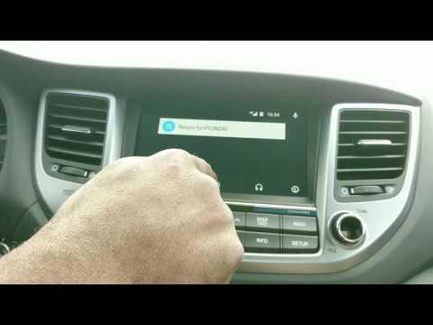 Android Auto Demo On The 2016 Hyundai Tucson