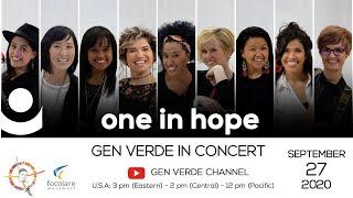 """Gen Verde Online Concert : """"One in Hope"""""""