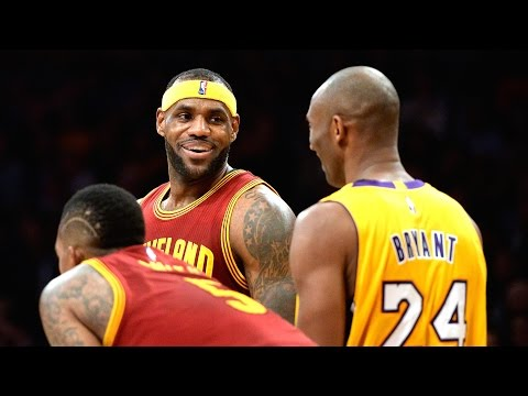 Kobe Bryant Laughs at LeBron James for Missing Dunk