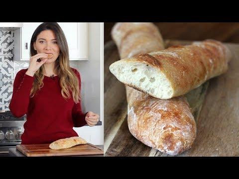Evde Baget Ekmek Nasıl Yapılır? Yoğurmadan, Makinasız Baget Ekmek Tarifi | Canan Kurban