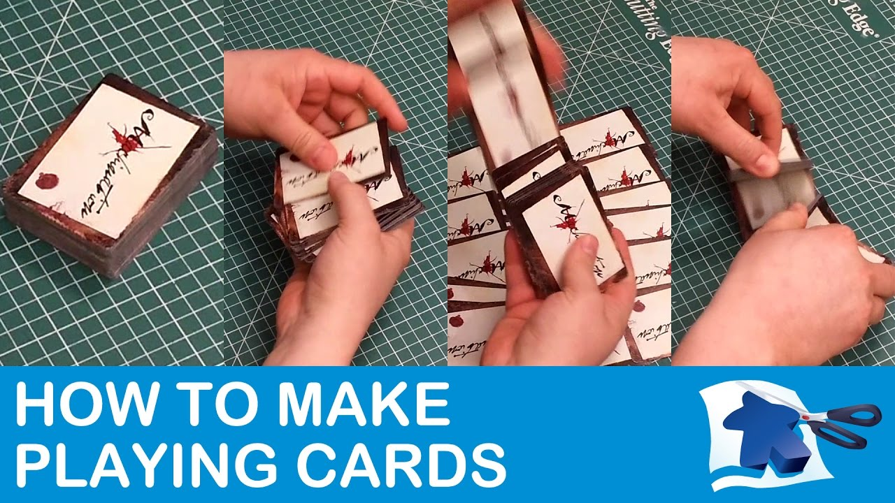 How To Make Playing Cards Dining Table Print Play Youtube