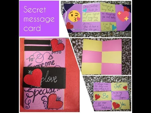 DIY Magic card for valentines | secret message card tutorial | Yashasvi Sharma CRAZY CHUNKS