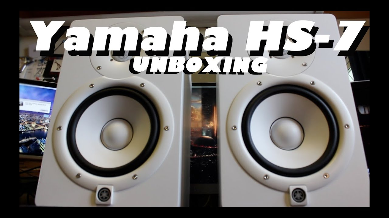 yamaha hs 7 unboxing white youtube. Black Bedroom Furniture Sets. Home Design Ideas